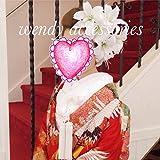 成人式 卒業式 結婚式にカサブランカ 髪飾り5点セット