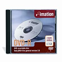 Imation 16x DVD-R 4.7GB 1 Pack Standard Jewel [並行輸入品]