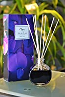 ManuホームブラックOrchid Reed Diffuser Gift Set–Made with essential oils ~ Includes自然のセットSticks ~ Made In The USA ~