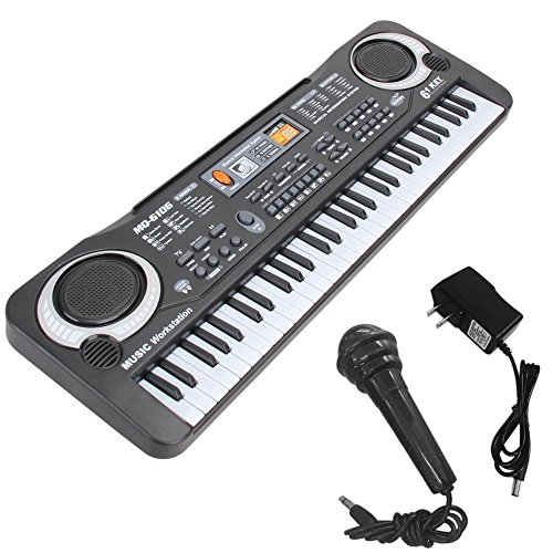 キッズピアノ、多機能61キー電子オルガン音楽キーボードピアノオルガンミュージカルティーチングキーキーボードおもちゃ子供用子供ギフト