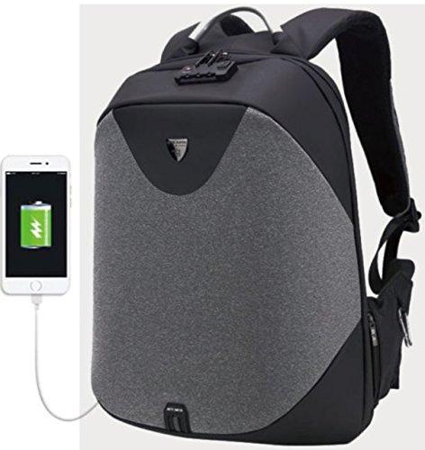 (ディルア) DHIRUA リュックサック 人気 ビジネスリュック ダークグレー キャンバストート デイパック 高校生 入学 はっ水 ボックスリュック フラップリュック 手さげ 通気性 スーツケース ポシェット 肩掛け 濃灰色 ワンショルダー デイバッグ 旅行鞄 ダークグレー 7