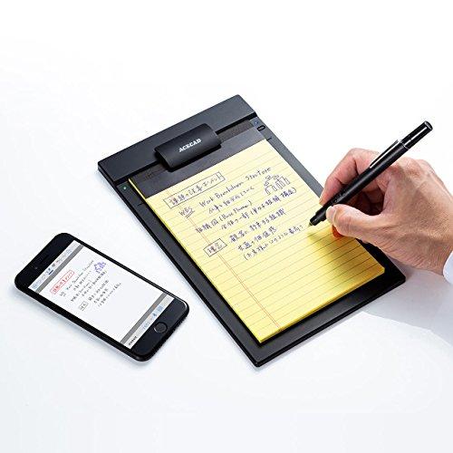 サンワダイレクト デジタルメモ帳 手書きメモ→スマホ・タブレット保存 Bluetooth接続 専用アプリ 400-SCNMB002