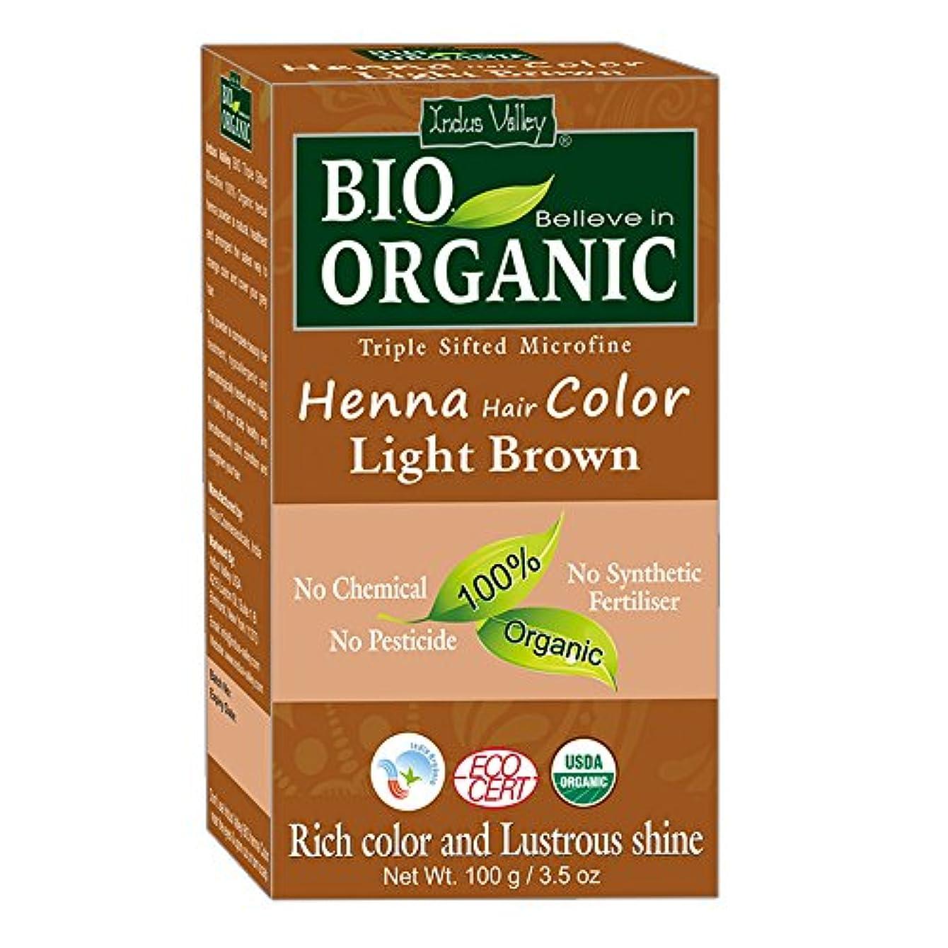 権限建物化学薬品ヘナヘアダイ100%バイオオーガニックトリプルシフトマイクロファインパウダー(ライトブラウン)