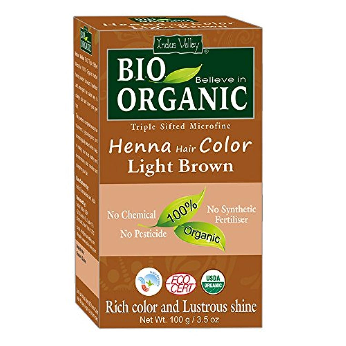 親愛な芽あなたが良くなりますヘナヘアダイ100%バイオオーガニックトリプルシフトマイクロファインパウダー(ライトブラウン)
