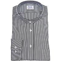ワイシャツ 軽井沢シャツ [A10KZZS46] スタンドカラー 純綿 80番双糸 ブラックロンスト らくらくオーダー受注生産商品