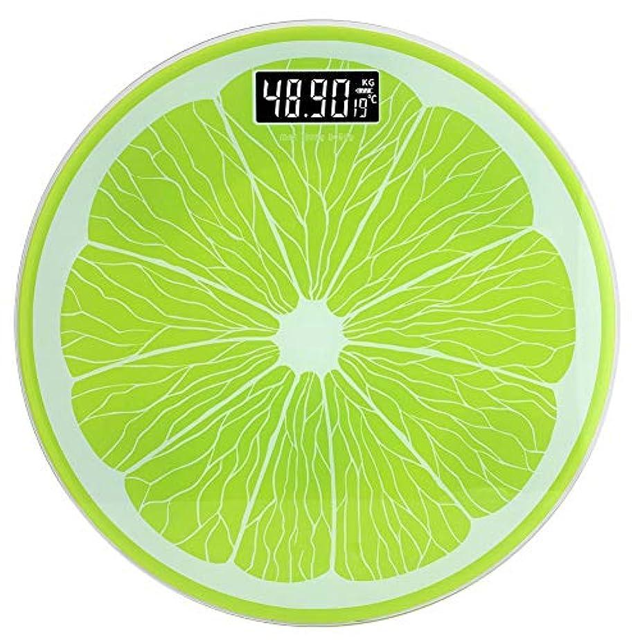 レルム目に見えるグリルochun 体重計 ユニークなレモンの形 超薄型 超大型液晶ディスプレイ 室内温度測定 ローバッテリーアラート機能付き バッテリ式