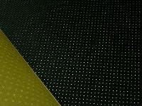 東レ エクセーヌ(黒~ダークグレー パンチング 裏張り:マスタード色)1M単位[R-ECS-PAN-BLACK-UMT]【アウトレット】