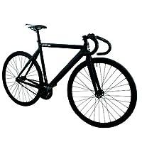 Zycle Fix ZFPRAL-MABK-51 Prime Alloy Fixed Gear Bike (Frame Size : 51 cm), Black Matte/Black by Zycle Fix