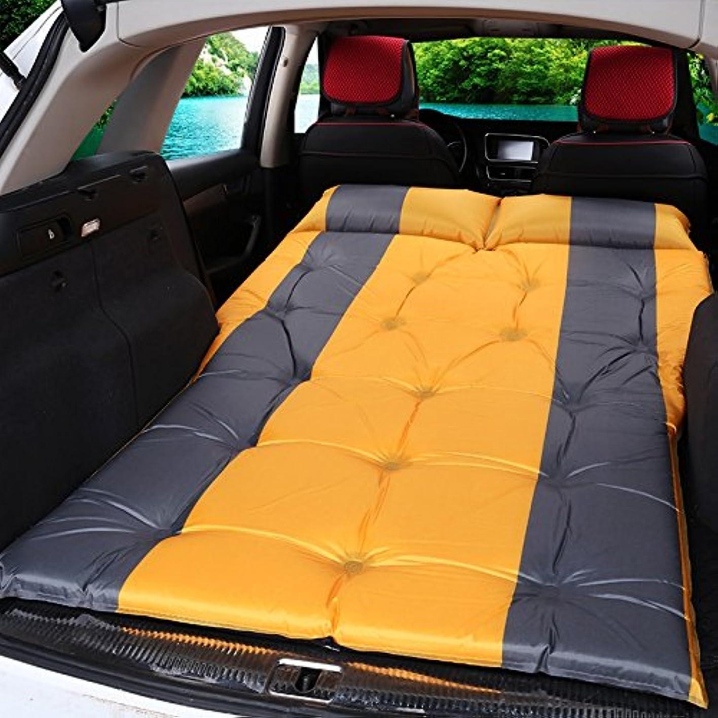 ヘア赤外線クランシーGYP アウトドアキャンプ車ショックベッドポータブル自動インフレータブルベッドスリーピングパッドカーベッドベッドエアベッドエアクッション ( 色 : イエロー いえろ゜ )