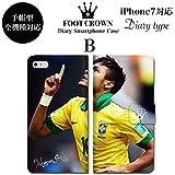 FOOT CROWN フットクラウン デザイン055 iPhone 全機種対応 手帳型 ダイアリー スマホケース カバー ネイマール neymar バルセロナ バルサ メッシ アルゼンチン ブラジル 代表 アイフォン 7 plus 6s 6 SE 5s ケース サッカー フットボール スポーツ メンズ かっこいい カワイイ
