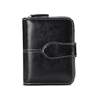 Sendefn RIFD Bloking Genuine Leather Short Small Wallets Purses for Women Men Retro Female Coin Purses Card Holder Organizer Yellow Blue Black Red
