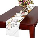 GGSXD テーブルランナー すばやい コーギー クロス 食卓カバー 麻綿製 欧米 おしゃれ 16 Inch X 72 Inch (40cm X 182cm) キッチン ダイニング ホーム デコレーション モダン リビング 洗える