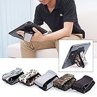 TFY iPadエアパッド付きハンドストラップホルダーwithTabletカバーケース(シマウマ)