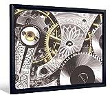 JP London Framed Antique Clock Hardware Restoration Pattern Gallery Wrap Heavyweight Canvas Art Wall Decor, 20.375' High x 26.375' Wide x 1.25' Thick [並行輸入品]
