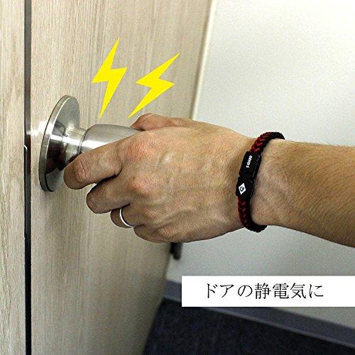 コランコラン Sガード フィタ colancolan Sガード fita 静電気除去 マイナスイオン 黒×白 L(約20.5cm)