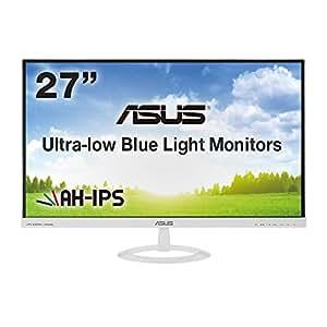 ASUS 27型フルHDディスプレイ (AH-IPS/広視野角178°/ブルーライト低減/HDMI×2,D-sub×1/スピーカー内蔵/ホワイト/3年保証) VX279H-W