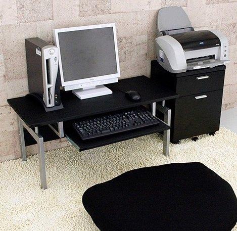 パソコンデスク ロータイプ 幅90cm (ブラック)