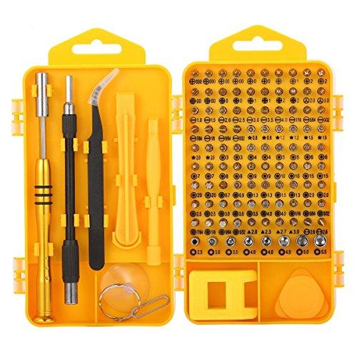 精密ドライバーセット スクリュードライバーセット M.Way 108in1 精密スクリュードライバツールセット 修理ツールキット 専用ドライバー ノートパソコン、IPhone、腕時計、眼鏡用