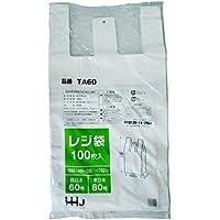 レジ袋 乳白色 東日本80号 西日本60号 厚さ0.024mm 100枚 TA-60