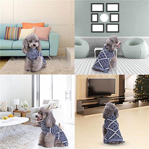 Yunt 犬 服 秋冬 ニット セーター タートルネックセーター 犬 洋服 ペット 可愛い 幾何柄 編み上品なセーター 2017新品 2XL