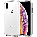 JETech Case for Apple iPhone Xs and iPhone X, Shock-Absorption Bumper Cover, Anti-Scratch Clear Back, HD Clear