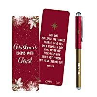 クリスマスで始まるキリストペンとブックマークギフトセット