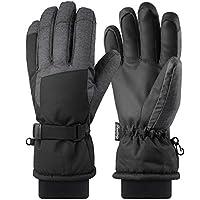 Fazitrip スキーグローブ キッズ/メンズ 3M 手袋 高機能断熱素材 滑り止め 通気性 防水 防寒 保温