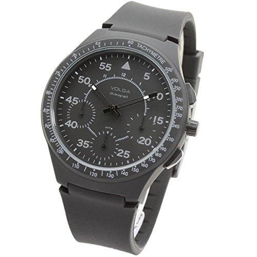 [VOLGA] 腕時計 北欧クロノグラフ 日本製ムーブメント タキメーター メンズ アウトドア時計