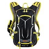 18L 軽量 サイクリングバッグ サイクリングリュック ハイキングバックパック 登山 ランニングバックパック 耐水性ショルダー レインカバー付属 男女兼用