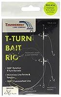 Thundermistルアー会社# 1a淡水Crappies / Sunfish / Perch / Bullheadナマズ/ Panfish t-turn餌リグ、クリア