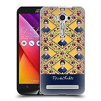 Official Frida Kahlo イエロー ポートレイト&パターン ハードバックケース Zenfone 2 Laser ZE550KL