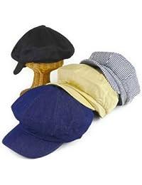 ノーブランド品 ツイル6パネルビッグキャスケット ヤング帽子