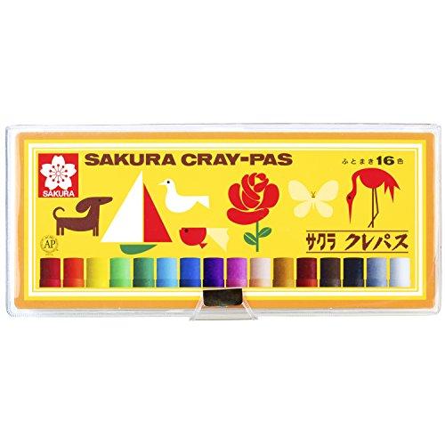 サクラクレパス クレパス 16色 ソフトケース入り LP16S