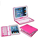 【PCATEC】 iPad mini/mini Retina/mini 3 用 Bluetooth キーボードケース360度回転☆色選択可能☆☆Macbookに変身(ピンク)