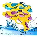 ウォーターガンの子供の長距離撮影のビーチアウトドア2個の楽しいガンのおもちゃ