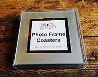 "Stylish ""Photo Frame Coasters"" silver Finish, Great Unusual Gift"