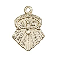 "14ktゴールドSeven Medalギフト。Includesデラックスflip-topギフトボックス。メダル/ペンダントメジャー3/ 4"" x 1/ 2"""