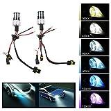 [TKOOFN] HIDキセノン交換用電球(1ペア)高速起動HID電球 ヘッドライトバルブ 35W 9006/HB4 6000K高輝度バルブ DC交流式