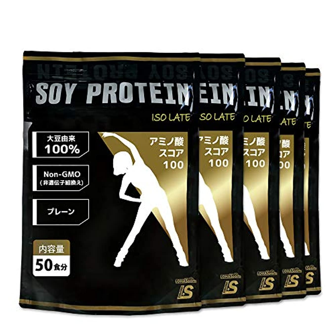 勇気のある頬骨お金ゴムLOHAStyle ソイプロテイン 大豆プロテイン 無添加 ((5kg(1kg×5袋)) 約250食分) アミノ酸スコア100 [非遺伝子組み換え]