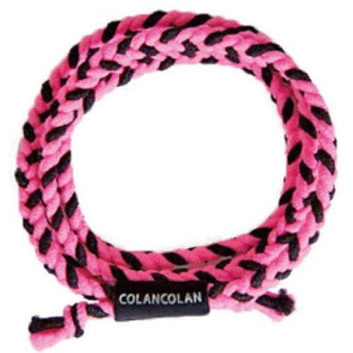 コランコラン 静電気除去 SガードVARIOUS (フリーサイズ(最大約65cm), 蛍光ピンク×黒)