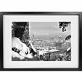 Archivio Foto Locchi Florence シャドー ボックス ファインアートプリント ハンドメイドのブラックフレーム(73 x 53 x 4.5 cm (28.7x20.9x1.8 インチ))付き 50年代フィレンツェの雪景色の画像