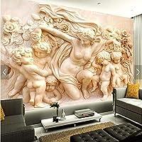 写真の壁紙3Dヨーロッパスタイルのレリーフホテルのリビングルームの寝室のソファテレビの背景の壁紙壁画-270x350cm