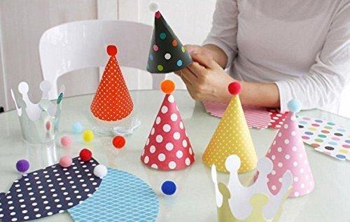 ( モモショップ ) MOMO shop かわいい! かんたん 手作り パーティー ミニ ハット & クラウン 全11個 セット (基本セット)