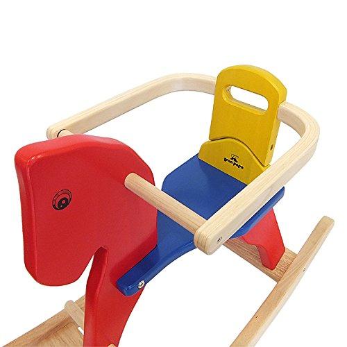 ピントーイ 木のおもちゃ サークル付き木馬
