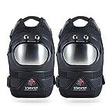 Whatsko ひざプロテクター オートバイ オフロードレース ニープロテクター 保護具ニーパッド スキー保護 膝パッド 通気性良い プロ 両足セット