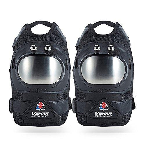 Whatsko ひざプロテクター オートバイ オフロードレース ニープロテクター 保護具ニーパッド スキー保護 膝パッド 通気性良い プロ (両足セット)