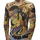 nuturary zero タトゥータイツロンT 刺青 入れ墨シャツ 面白Tシャツ 和彫り ロンT 伝統 日本