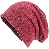 AOOMN Women's Basic Slouchy Beanie Baggy Skull Cap Hat Soft Sleep Cap for Hairloss Cancer Chemo
