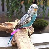 PUEBCO Artificial Birds Budgie プエブコ アーティフィシャルバード インコ ブルー