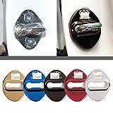 4枚セット 5色選択可 トヨタ TOYOTA ストライカー カバー ドアロック カバー メッキ 高品質 鏡面ステンレススト トヨタ全車種対応 トヨタ社外品 (ブラック)